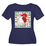 Roosters! Women's Plus Size Scoop Neck Dark T-Shir