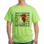 Roosters! Green T-Shirt