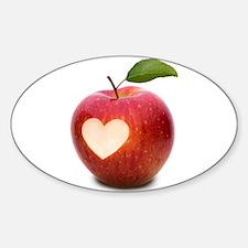 Freedom Apple Sticker (Oval)