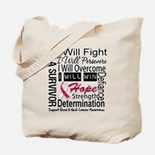 Head Neck Cancer Persevere Tote Bag