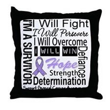 General Cancer Persevere Throw Pillow