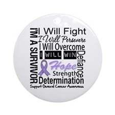 General Cancer Persevere Ornament (Round)
