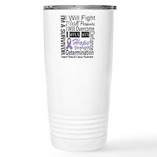 General Cancer Persevere Travel Mug