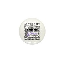 General Cancer Persevere Mini Button (100 pack)