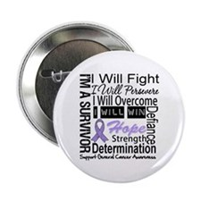 "General Cancer Persevere 2.25"" Button"