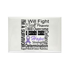 General Cancer Persevere Rectangle Magnet