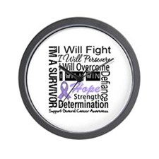 General Cancer Persevere Wall Clock