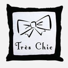 Tres Chic bow Throw Pillow