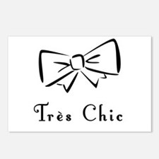 Tres Chic bow Postcards (Package of 8)
