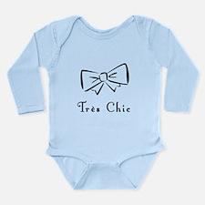 Tres Chic bow Long Sleeve Infant Bodysuit