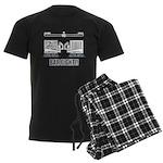 Bar Fight Men's Dark Pajamas