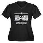 Bar Fight Women's Plus Size V-Neck Dark T-Shirt