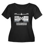 Bar Fight Women's Plus Size Scoop Neck Dark T-Shir