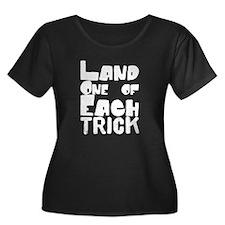 easy_1 Women's Plus Size V-Neck Dark T-Shirt
