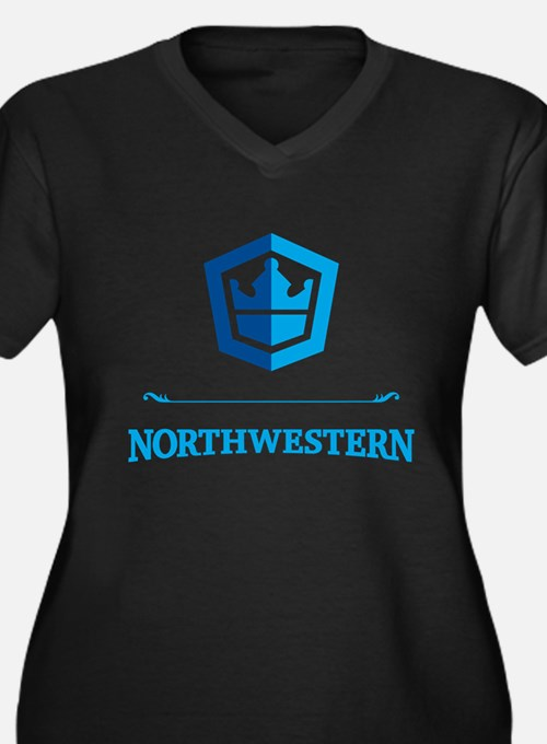 Northwestern_Crest_10inx10i Plus Size T-Shirt
