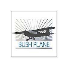 "Aircraft Bush Plane Square Sticker 3"" x 3"""