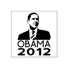 "Obama Square Sticker 3"" x 3"""