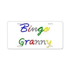 Bingo Granny Aluminum License Plate
