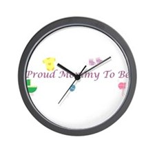 Proud Mommy To Be Wall Clock