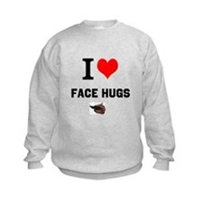 Face Hugs with Glider Image Sweatshirt
