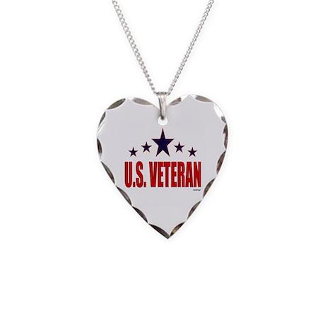 U.S. Veteran Necklace Heart Charm