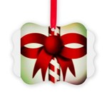 Happy Holidays Candy Cane Picture Ornament