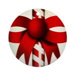 Happy Holidays Candy Cane Ornament (Round)