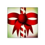 Happy Holidays Candy Cane Square Sticker 3