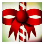 Happy Holidays Candy Cane Square Car Magnet 3