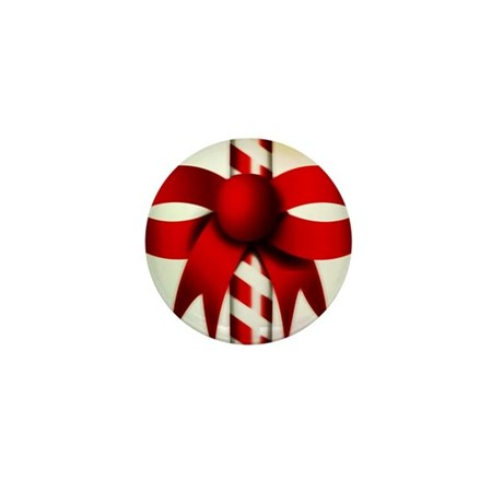 Happy Holidays Candy Cane Mini Button (100 pack)