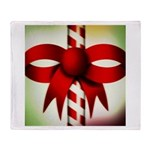 Happy Holidays Candy Cane Throw Blanket
