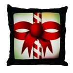 Happy Holidays Candy Cane Throw Pillow