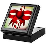 Happy Holidays Candy Cane Keepsake Box