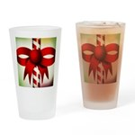 Happy Holidays Candy Cane Drinking Glass