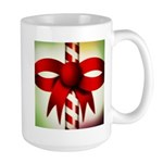 Happy Holidays Candy Cane Large Mug