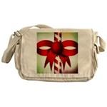 Happy Holidays Candy Cane Messenger Bag