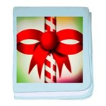 Happy Holidays Candy Cane baby blanket