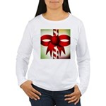 Happy Holidays Candy Cane Women's Long Sleeve T-Sh
