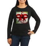 Happy Holidays Candy Cane Women's Long Sleeve Dark