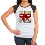 Happy Holidays Candy Cane Women's Cap Sleeve T-Shi