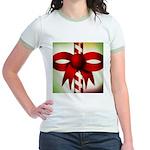 Happy Holidays Candy Cane Jr. Ringer T-Shirt