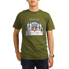 3-bedwarmers beagle T-Shirt