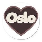 Oslo Round Car Magnet