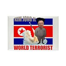 Kim Jong Il world terrorist Rectangle Magnet