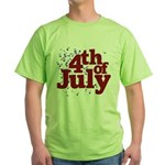 4th of July Green T-Shirt