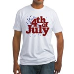 4th of July Fitted T-Shirt