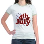 4th of July Jr. Ringer T-Shirt