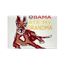 OBAMA ATE MY GRANDMA.png Rectangle Magnet (10 pack