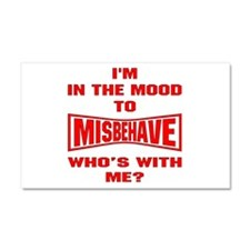 Mood To Misbehave Car Magnet 20 x 12