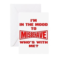 Mood To Misbehave Greeting Cards (Pk of 20)
